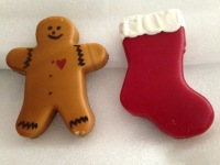 "Gingerbread man Stocking 4 oz each about 5 1/2"" - 6 "" tall"